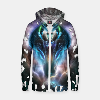 Thera The Ethereal Queen Splatter Motif Cotton zip up hoodie thumbnail image