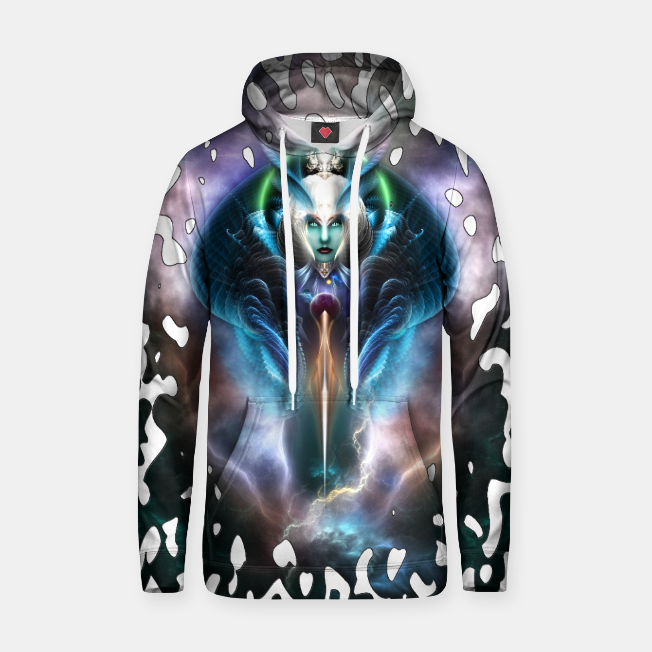Image of Thera The Ethereal Queen Splatter Motif Cotton hoodie - Live Heroes