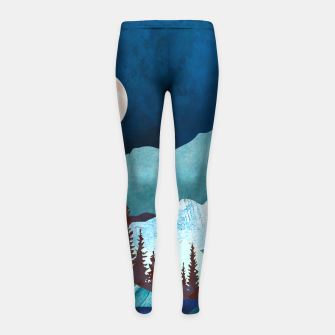 Thumbnail image of Moon Bay Girl's leggings, Live Heroes
