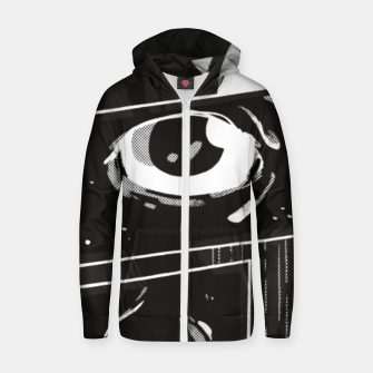 Thumbnail image of Look Up Cotton zip up hoodie, Live Heroes