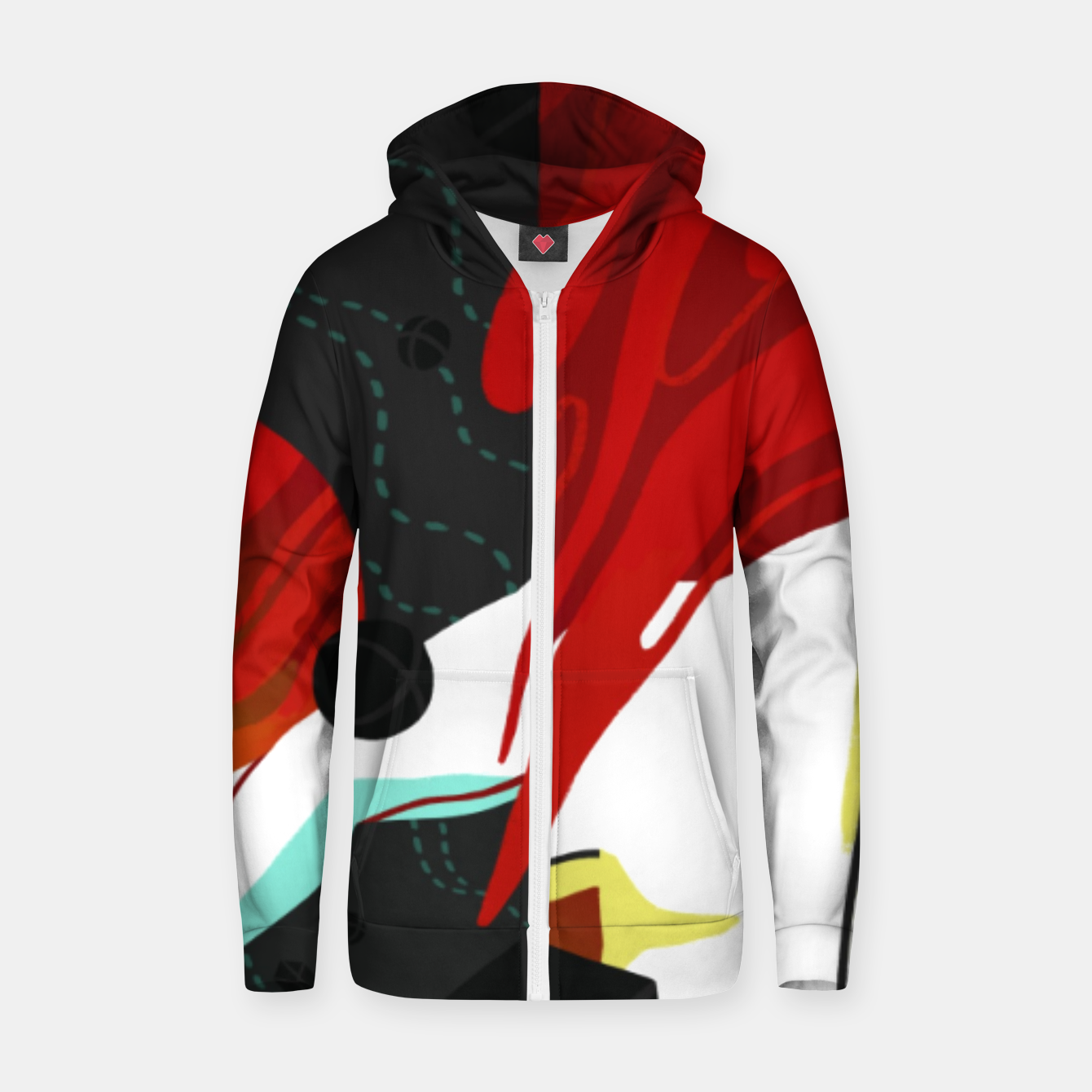 Image of Growth Cotton zip up hoodie - Live Heroes