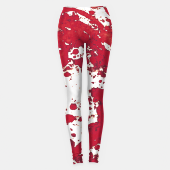 Thumbnail image of Red white Leggings, Live Heroes