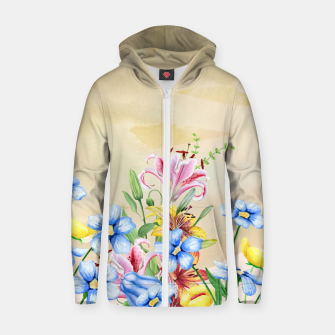 Thumbnail image of Snowlily Cotton zip up hoodie, Live Heroes