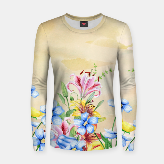 Thumbnail image of Snowlily Woman cotton sweater, Live Heroes