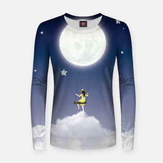 girl and the moon Pull femme en coton miniature