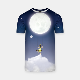 girl and the moon T-shirt miniature