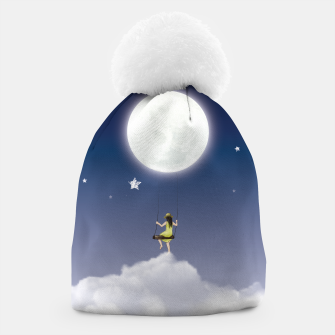 girl and the moon Bonnet miniature