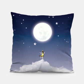 girl and the moon Coussin miniature