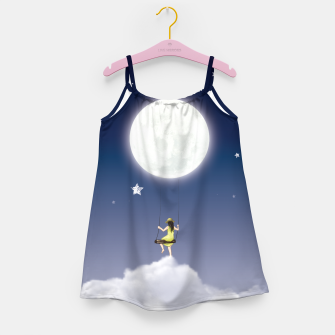 girl and the moon Robe de fille miniature