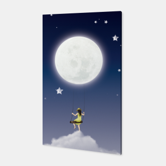 Thumbnail image of girl and the moon Toile, Live Heroes