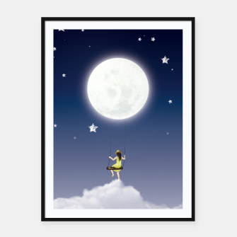 girl and the moon Affiche et cadre miniature