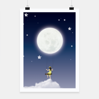 girl and the moon Affiche miniature