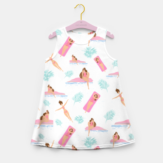 Thumbnail image of Enjoy summer on the pool Girl's summer dress, Live Heroes