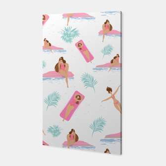 Thumbnail image of Enjoy summer on the pool Canvas, Live Heroes