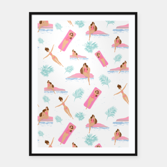 Thumbnail image of Enjoy summer on the pool Framed poster, Live Heroes