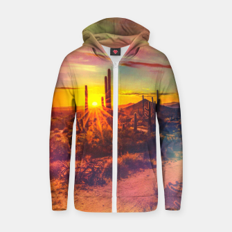 Miniaturka Jupiter Desert: Morning Cotton zip up hoodie, Live Heroes