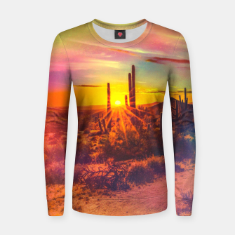 Thumbnail image of Jupiter Desert: Morning Woman cotton sweater, Live Heroes