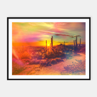 Thumbnail image of Jupiter Desert: Morning Framed poster, Live Heroes