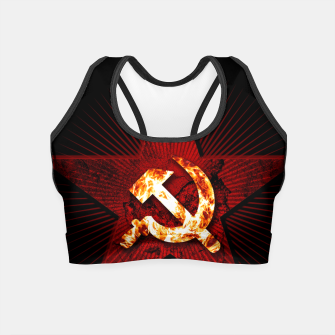 Thumbnail image of CCCP logo Crop Top, Live Heroes