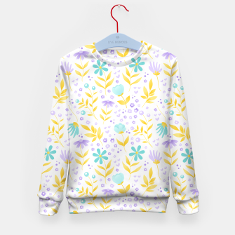 Thumbnail image of flowers Kid's sweater, Live Heroes