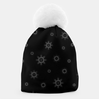 Thumbnail image of Abstract geometric pattern - black and white. Beanie, Live Heroes
