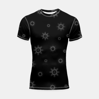 Miniatur Abstract geometric pattern - black and white. Shortsleeve rashguard, Live Heroes