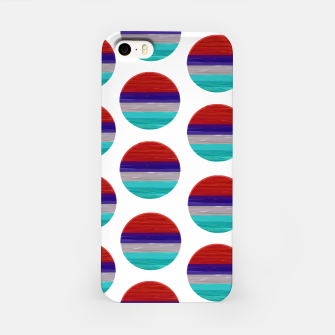 Thumbnail image of dots red white green  iPhone Case, Live Heroes