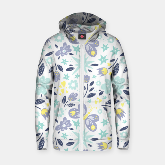 Thumbnail image of flowers Cotton zip up hoodie, Live Heroes