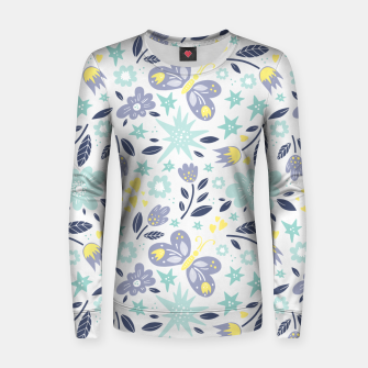 Thumbnail image of flowers Woman cotton sweater, Live Heroes