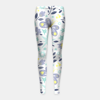 Thumbnail image of flowers Girl's leggings, Live Heroes