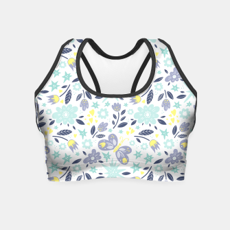 Thumbnail image of flowers Crop Top, Live Heroes