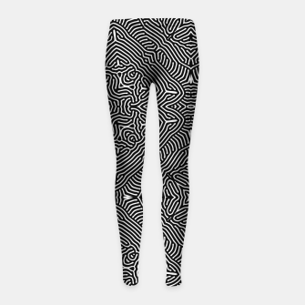 Miniature de image de Abstract Pattern Girl's leggings, Live Heroes