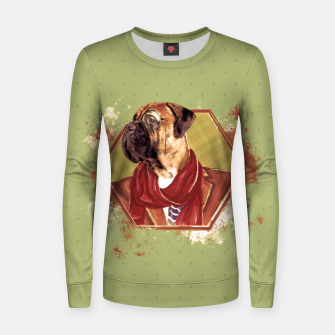 Thumbnail image of Hipster Bullmastiff Woman cotton sweater, Live Heroes