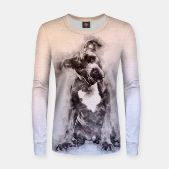 Thumbnail image of American Staffordshire Terrier - Amstaff Puppy Woman cotton sweater, Live Heroes