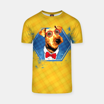 Thumbnail image of Hipster Airedale Terrier  T-shirt, Live Heroes