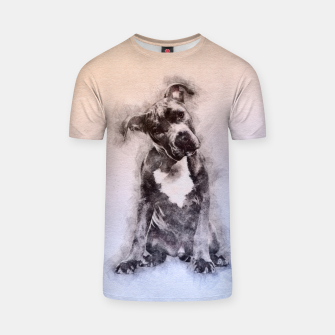 Thumbnail image of American Staffordshire Terrier - Amstaff Puppy T-shirt, Live Heroes