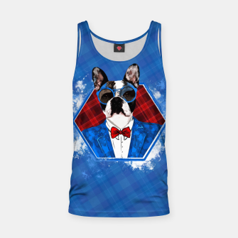 Thumbnail image of Hipster French Bulldog -Frenchie  Tank Top, Live Heroes