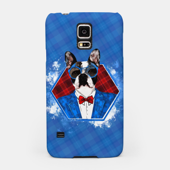 Thumbnail image of Hipster French Bulldog -Frenchie  Samsung Case, Live Heroes