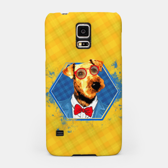 Thumbnail image of Hipster Airedale Terrier  Samsung Case, Live Heroes