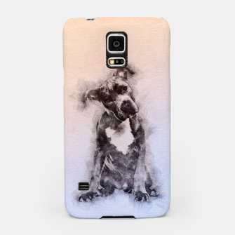 Thumbnail image of American Staffordshire Terrier - Amstaff Puppy Samsung Case, Live Heroes