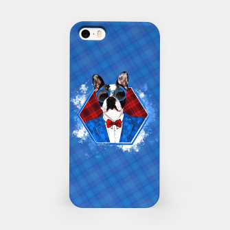 Thumbnail image of Hipster French Bulldog -Frenchie  iPhone Case, Live Heroes