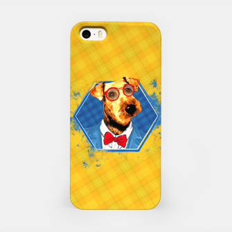Thumbnail image of Hipster Airedale Terrier  iPhone Case, Live Heroes