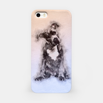 Thumbnail image of American Staffordshire Terrier - Amstaff Puppy iPhone Case, Live Heroes