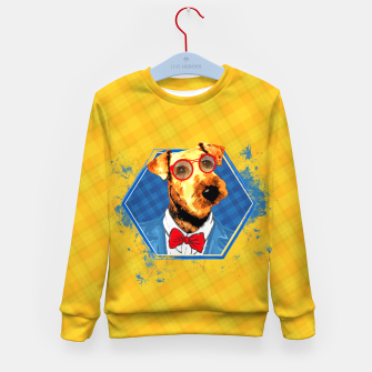 Thumbnail image of Hipster Airedale Terrier  Kid's sweater, Live Heroes