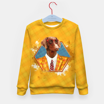 Thumbnail image of Hipster Dobermann - Doberman Pinscher  Kid's sweater, Live Heroes