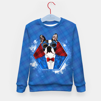 Thumbnail image of Hipster French Bulldog -Frenchie  Kid's sweater, Live Heroes