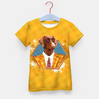 Thumbnail image of Hipster Dobermann - Doberman Pinscher  Kid's t-shirt, Live Heroes
