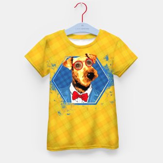 Thumbnail image of Hipster Airedale Terrier  Kid's t-shirt, Live Heroes
