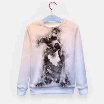 Thumbnail image of American Staffordshire Terrier - Amstaff Puppy Kid's sweater, Live Heroes