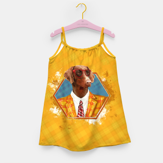 Thumbnail image of Hipster Dobermann - Doberman Pinscher  Girl's dress, Live Heroes